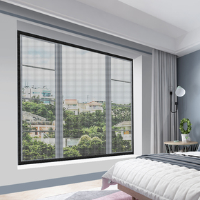 家用纱窗纱网非自粘式磁性磁铁门帘自装型魔术贴窗户防蚊子沙窗帘