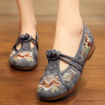 赛格老北京旗舰店官方夏季的绣花鞋