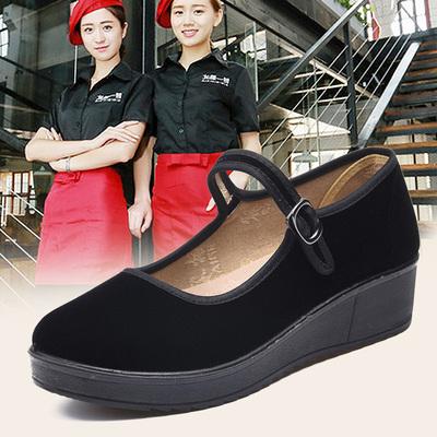 青州赛格布鞋女正品女士小黑老北京布鞋鞋类旗舰店官方时尚工作鞋