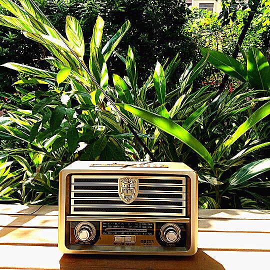 欧美复古收音机台式摇控蓝牙音箱插卡音响充电式全波中波短波老人