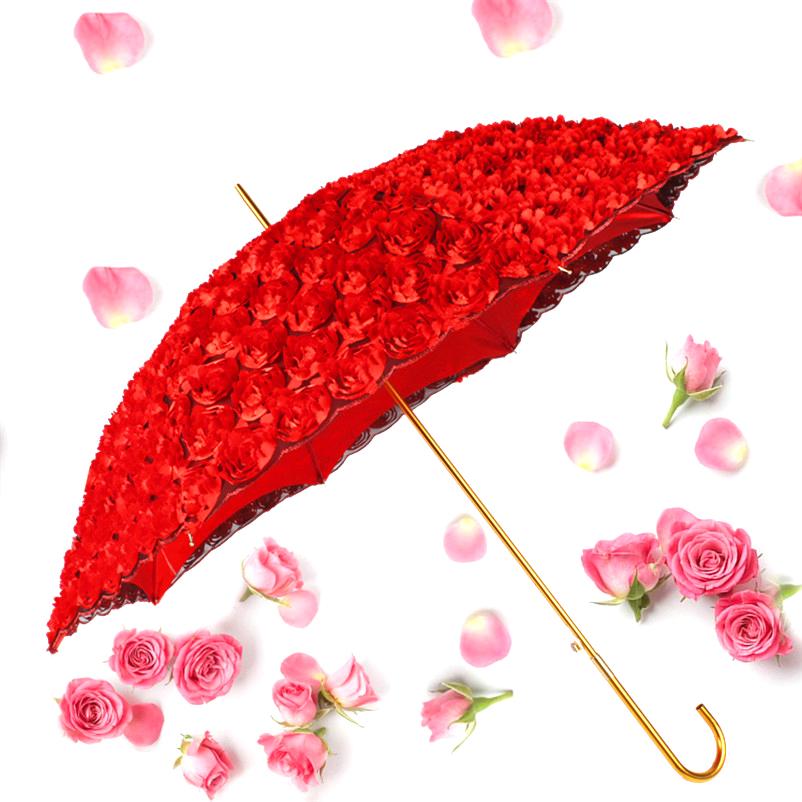 结婚红伞出嫁新娘伞红伞婚庆高档结婚伞喜庆红大红色长柄伞红雨伞