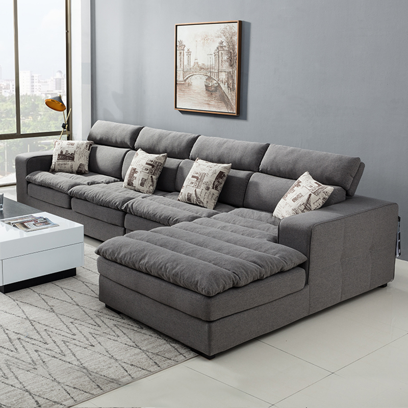Modern simple latex fabric sofa, Nordic sofa, living room furniture, whole size and unit type combination can be completely disassembled and washed