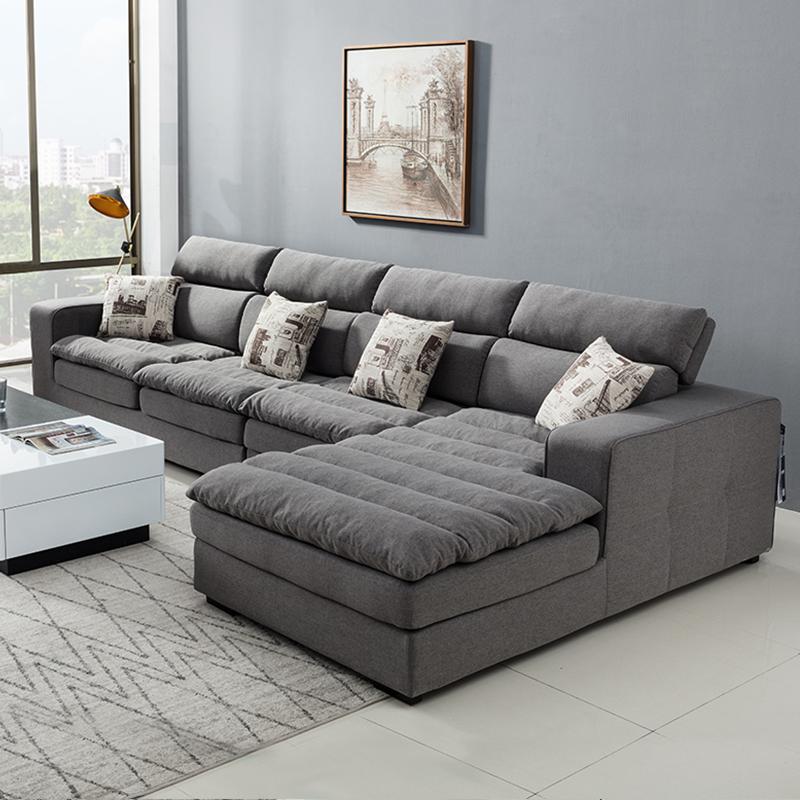 現代簡単なラテックス布芸ソファー北欧ソファーリビング家具のセットサイズと部屋型の組み合わせは全部取り分けて洗うことができます。
