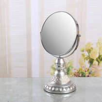 TQJ modern European style dressing mirror round makeup mirror beauty Mirror