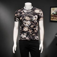 2018新款冰丝时尚修身T恤 电商A045 2802 P50 假模