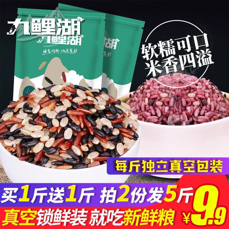 买1送1共1000g 三色糙米五谷杂粮糙米黑米红米饭粗粮胚芽米低