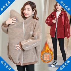 袋鼠衣服带宝宝袋鼠装抱婴儿衣服 妈妈母子连体衣兜保暖卫衣秋冬