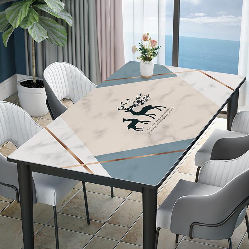 【硅胶桌垫】大理石纹防水防油防烫免洗北欧家用电视柜茶几餐桌布
