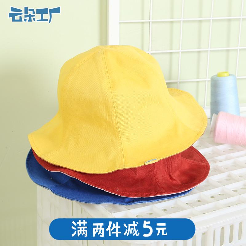 云朵工厂日系休闲双面渔夫帽女夏季可爱遮阳帽圆顶盆帽帽子图片