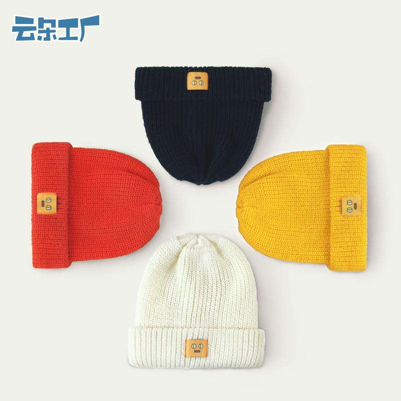云朵工厂 秋冬新款毛线帽休闲可爱学院风针织帽女款加厚保暖帽子