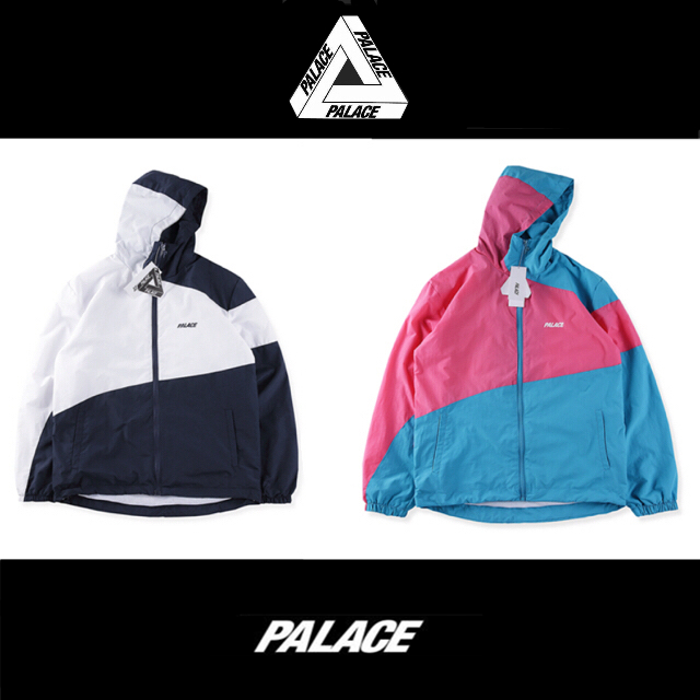 European and American Palace retro color matching color contrast zipper hooded jacket mens and womens oversize jacket fashion