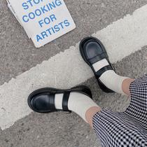 春季新款方头玛丽珍鞋粗跟中跟高跟鞋小香风单鞋女2021达芙妮女鞋
