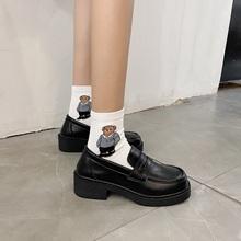 日系英伦小皮鞋学院风JK鞋子中跟制服鞋2021春季新款玛丽珍单鞋女