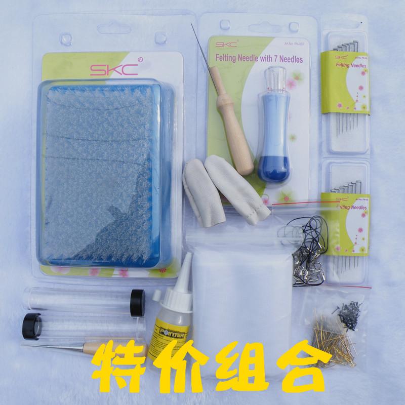 Инструмент combo шерсти валяние шерсти тыкать наборы инструментов иглы валяния мокрого валяния