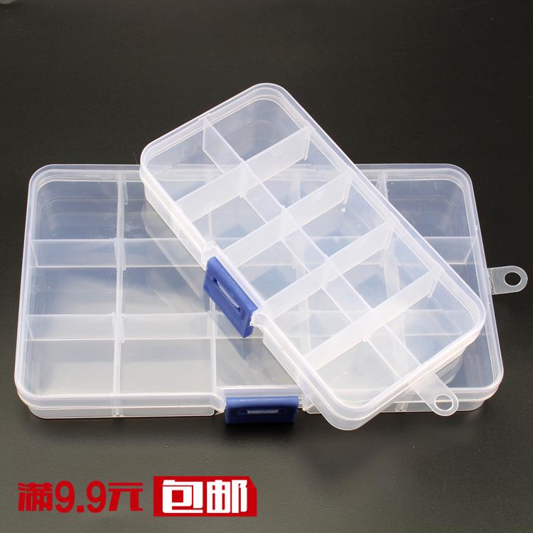 Кнопки коробка прозрачный пластик небольшой решетки в коробку ювелирные изделия украшенный бусами коробка коробку аксессуары больше сетка монтаж коробка