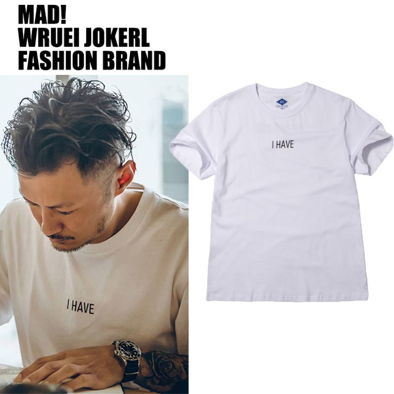 MADNESS MDNS WRUEI CLASSIC  PRINTING TEE 余文乐潮牌短袖T恤男