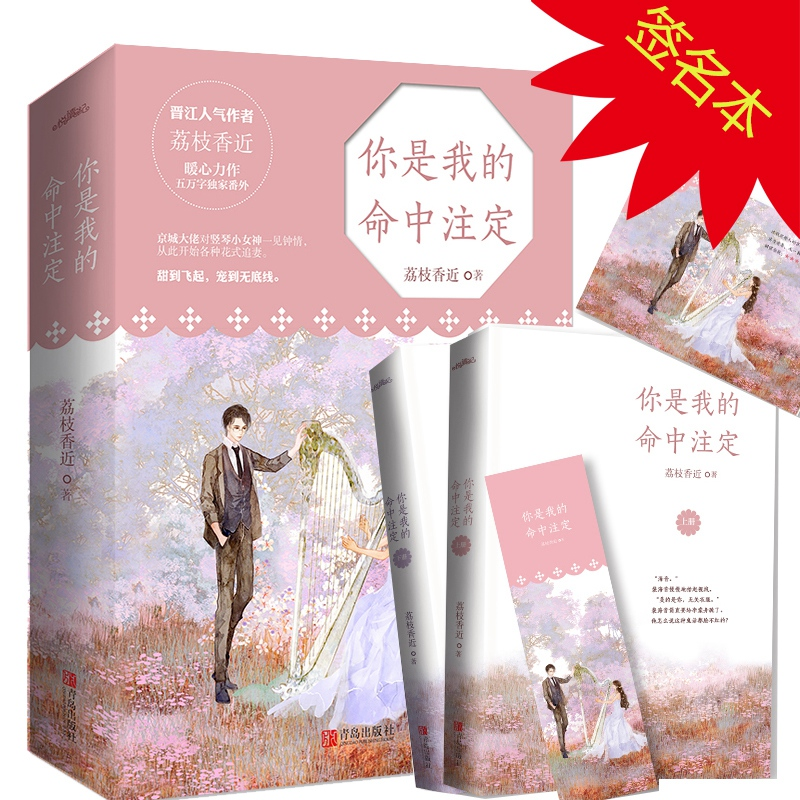 Signature book you are my destiny litchi Xiangs youth novel