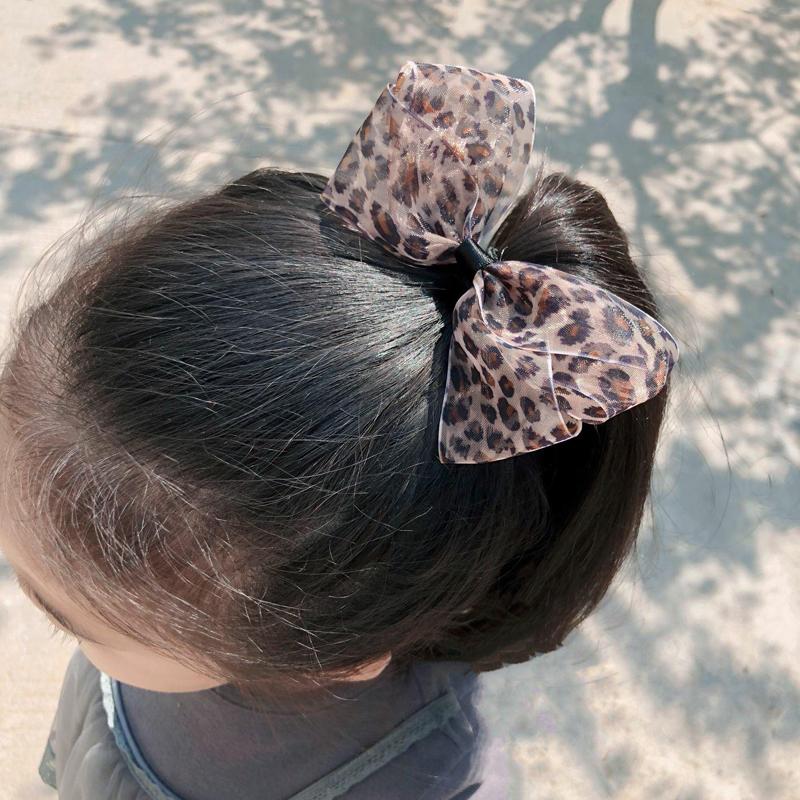 韩国蝴蝶结豹纹可爱宝宝公主刘海夹