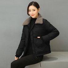 Down cotton padded women's short style thickened 2020 new winter loose small cotton padded jacket mother warm working clothes large cotton padded jacket