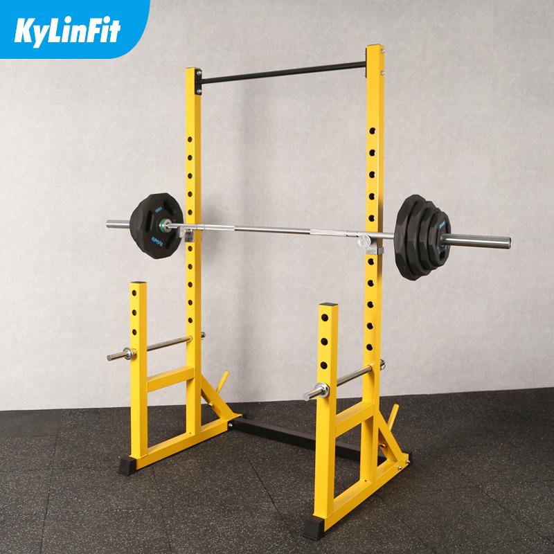 多功能分体框式深蹲架家用卧推架杠铃架举重床健身器材引体向上架
