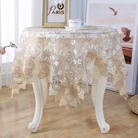 欧式轻奢蕾丝冰箱小圆桌镂空桌布茶几布长方形餐桌床头柜鞋柜盖巾图片