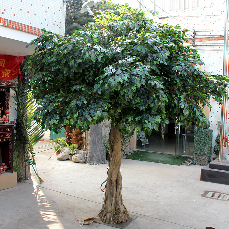 Simulation of real banyan artificial white banyan golden banyan false tree customized indoor and outdoor landscaping plant decoration
