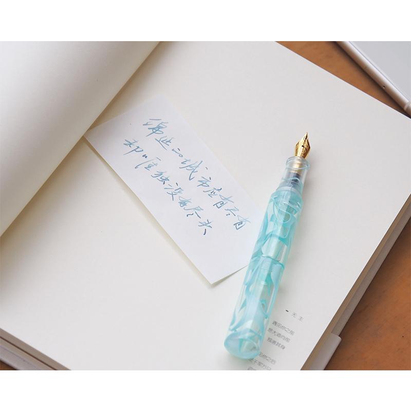 才起 口袋钢笔 丸彩小巧口红笔铱金笔迷你短透明彩墨学生练字送礼