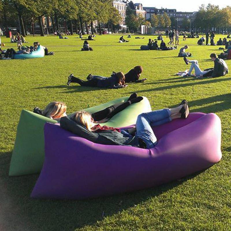 户外网红懒人充气沙发空气床垫单人躺椅便携式野营午休免打气折叠