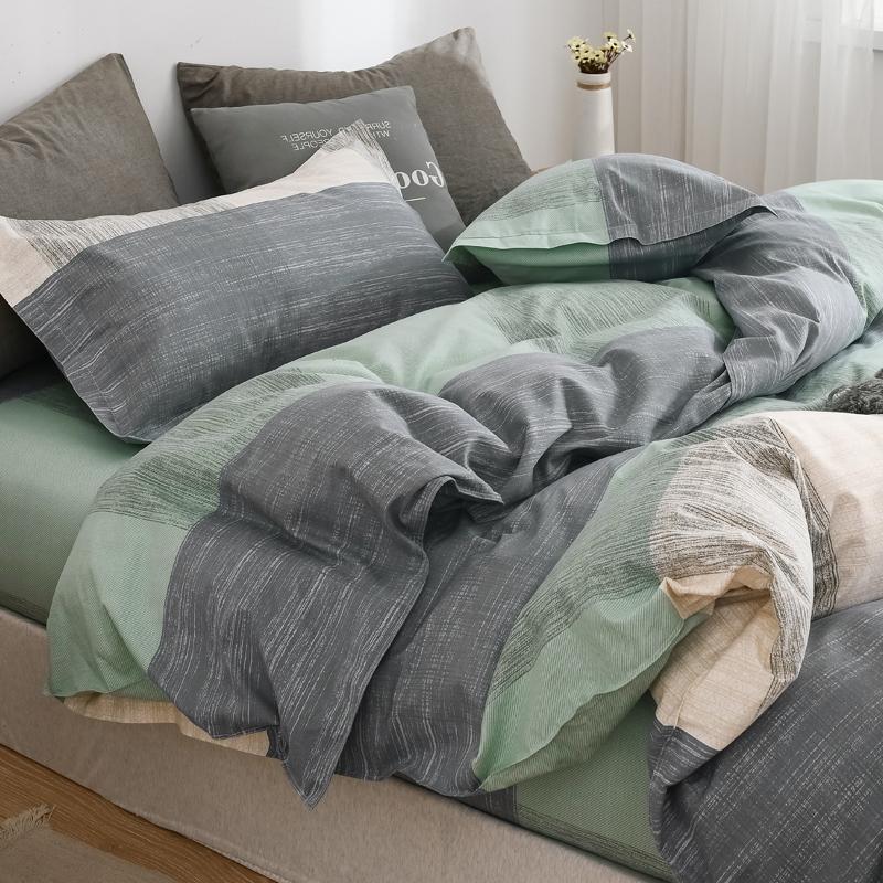 四件套床上用品床单被套单人宿舍学生水洗棉四季通用被罩三件套男