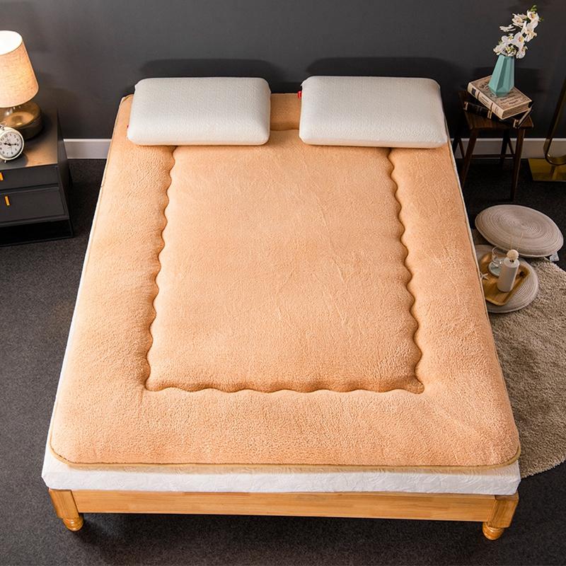 羊羔绒床垫子冬家用床褥子床垫被学生宿舍加厚单人榻榻米海绵垫