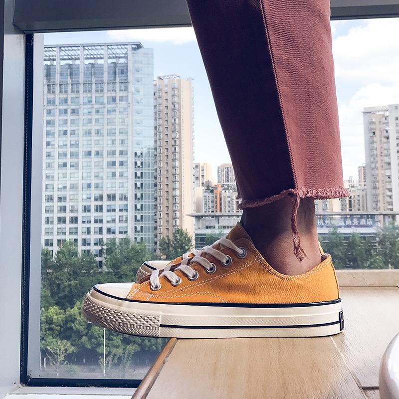 �典款低�头�布鞋男�n版潮流百搭鞋子男板鞋休�e透�庀募�W生布鞋