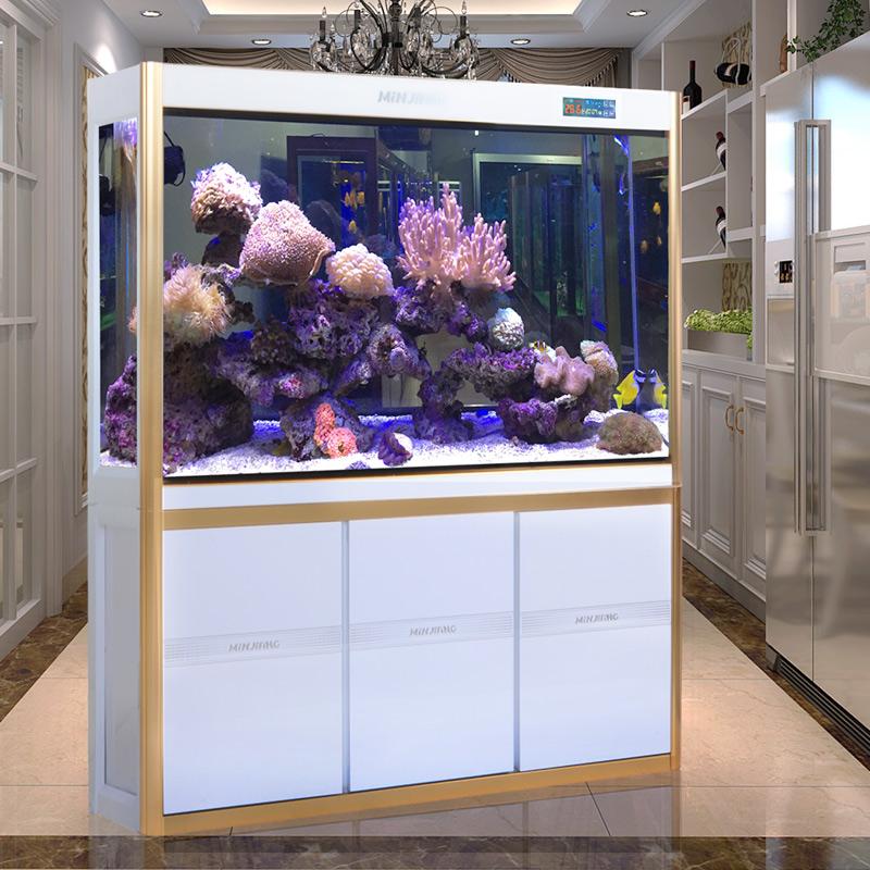 閩江魚缸水族箱中型1.2米超白玻璃生態底濾家用客廳大型1.5金龍魚