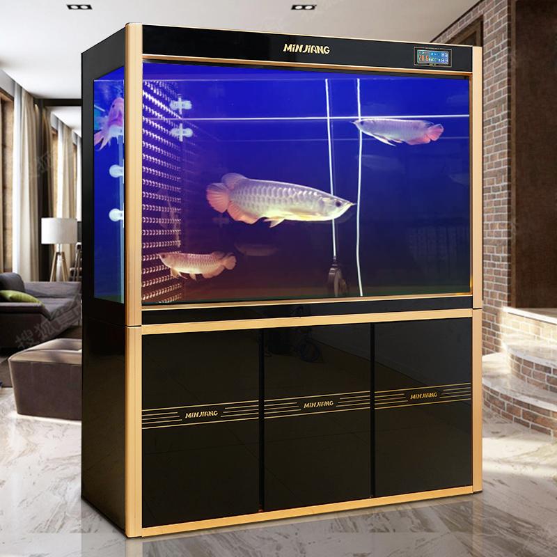 閩江大型魚缸水族箱1 1.2 1.5米中型超白玻璃生態魚缸底濾金魚缸