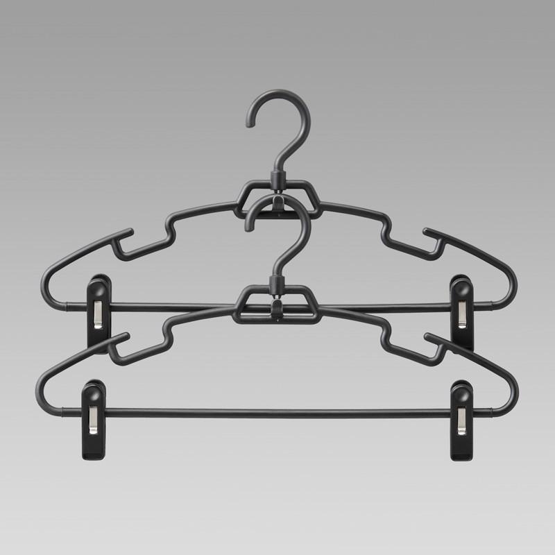 Япония подлинный LEC вешалка даже вешать стеллажи велогонка полка брюки юбка полка брюки клип 3 штук