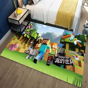 儿童房间地毯卧室满铺可爱卡通动漫书桌床边地毯家用玩男孩地垫