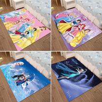 少女儿童地毯卧室夏房间女孩公主粉色大面积可爱床边卡通床下地垫