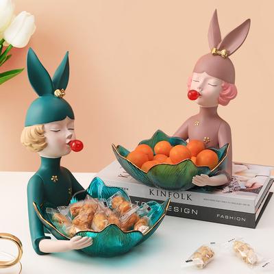 北欧水果盘轻奢风现代客厅茶几家用网红糖果盘创意干果收纳零食盘