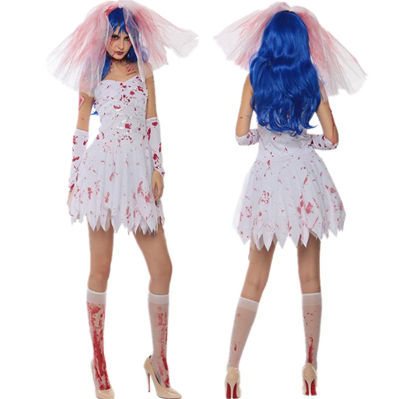 万圣节服装鬼新娘女巫婆化妆舞会cosplay吸血鬼恐怖衣服成人女