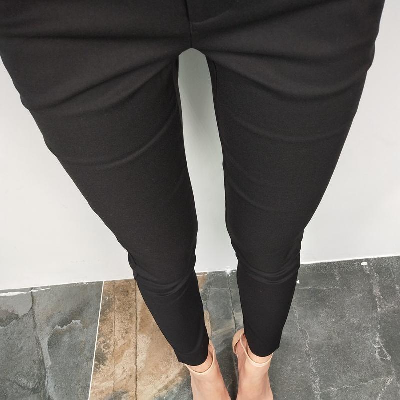 20夏九分裤女薄款新品休闲小脚裤经典9分万能小黑裤铅笔裤烟管裤