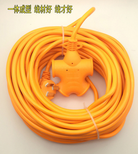加长摔不烂超长插排插座电动车充电源延长线接线板10/15/20米排插图片