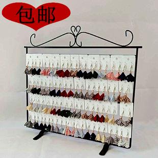 新铁艺桌面大号平面耳环耳夹耳钉时尚流行首饰饰品盒展示收纳架子