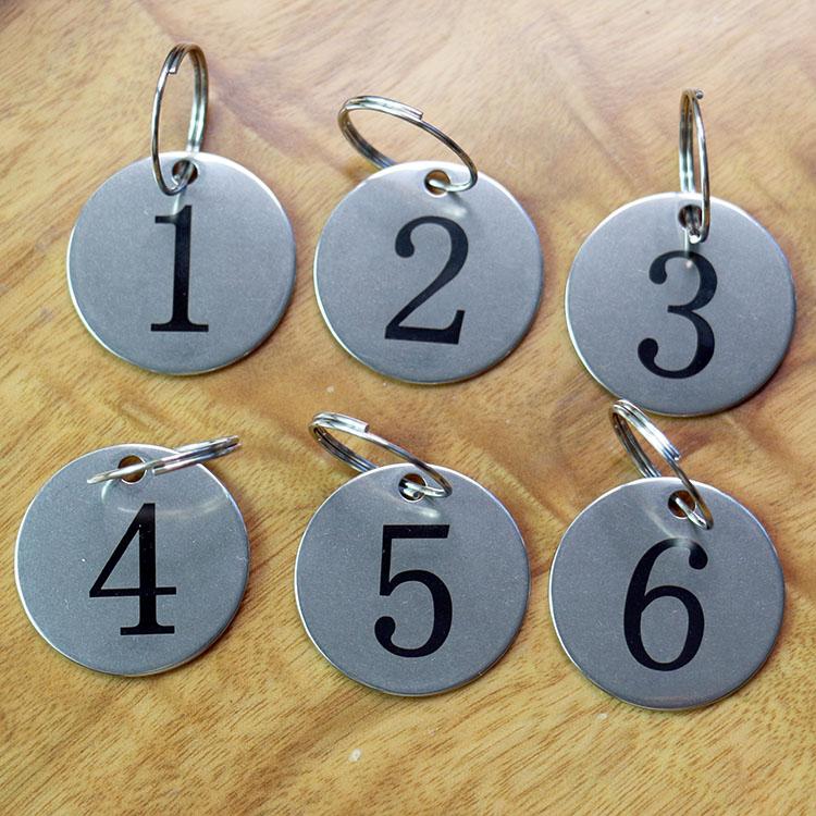 个性不锈钢号码牌定制 金属数字牌定做 创意钢牌刻字 记号牌打标