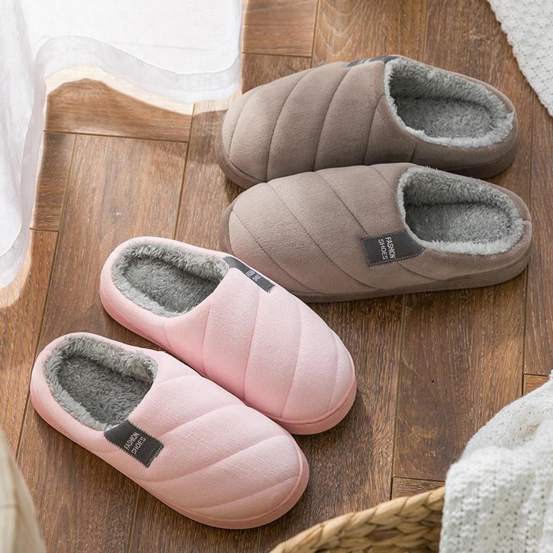 棉拖鞋女冬季厚底防滑家居家用室内保暖学生宿舍居家男士情侣冬天
