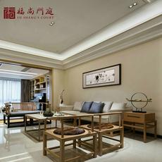 新中式沙发组合现代中式全实木布艺禅意简约会所酒店别墅客厅家具