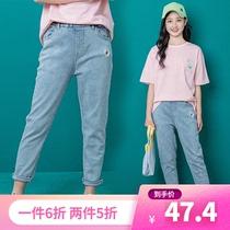 女童13薄款裤子2020新款中大童12女孩夏季牛仔裤14岁夏天洋气夏装