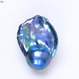 孔雀绿淡水巴洛克异形珍珠 天然淡水炫彩散珠裸珠 DIY定制异形珠