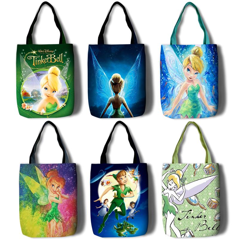 小飞侠 Peter Pan 精灵小叮当 tinker bell购物袋手提拎便携ins包