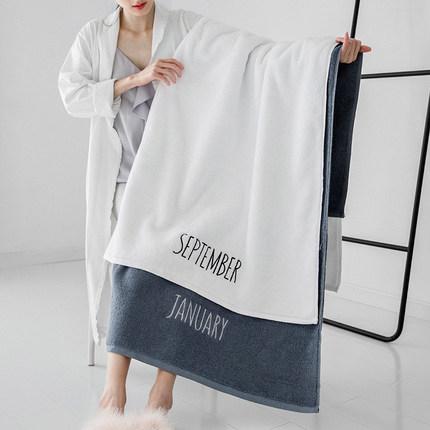 浴巾家用纯棉吸水速干男女全棉大号成人ins 风情侣不掉毛酒店裹巾