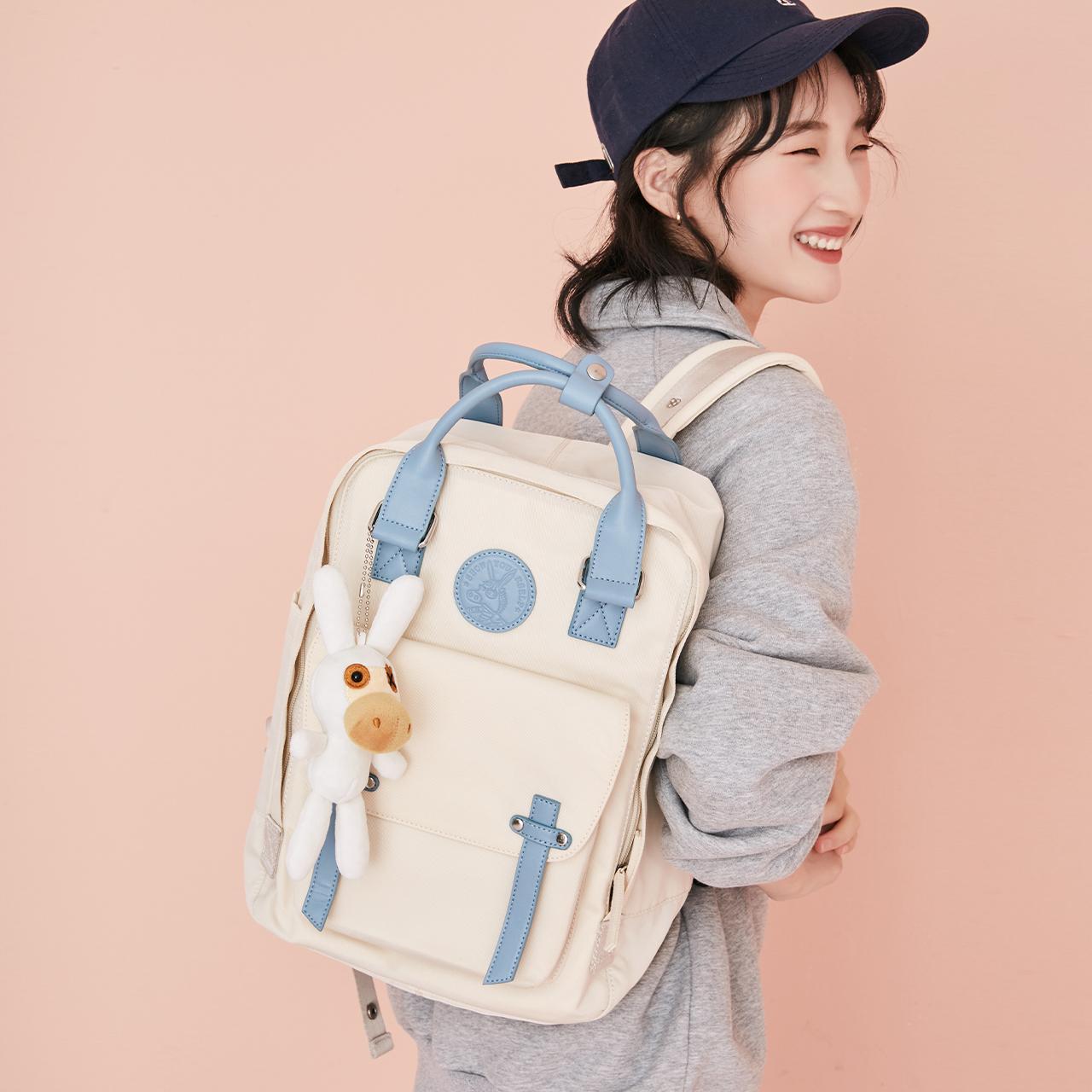 不莱玫双肩包女夏jk原创小众旅行背包轻便大容量书包初高中大学生