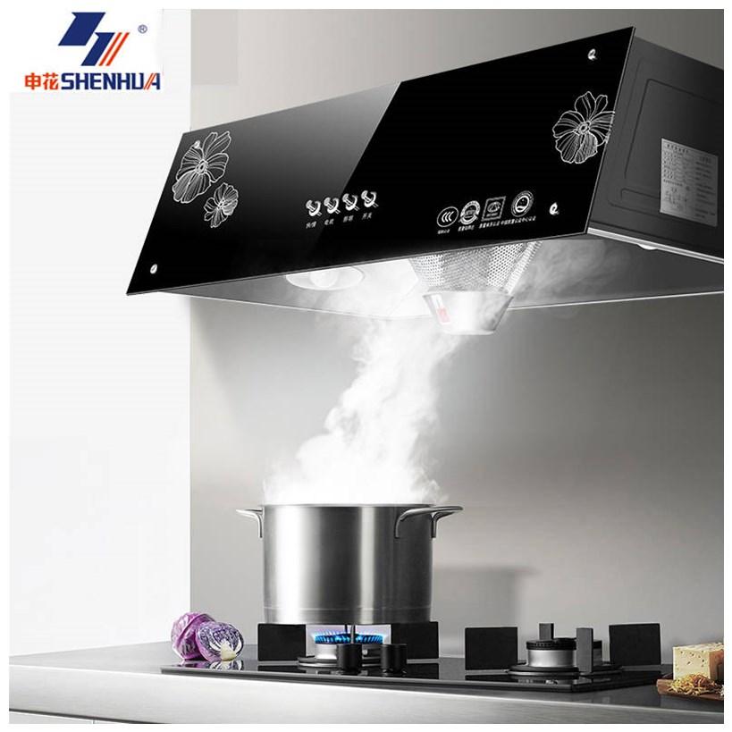申花大吸力家用油烟机中式厨房吸油烟机小型顶吸式脱排抽油烟机